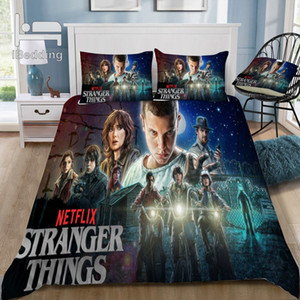 New Fashion Movie Stranger-Things 3D Bedding Set Printed Duvet Cover Set Twin Full Queen King Size Dropshipping