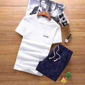 Pop2019 Pure Cotton Pattern Short Sleeve Shorts Men's Wear Printing Cool Time Motion Suit on Sale