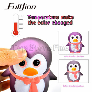 Wholesale Fulljion Squishy Penguin Temperature Color Change Surprise Stress Relief Toy Gags Practical Jokes Funny Gadgets Fun