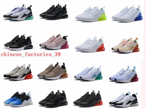Wholesale 270 Parra Hot Punch Photo Blue Mens Women Running Shoes Triple White University Red Olive Volt Habanero C Flair s Sneakers