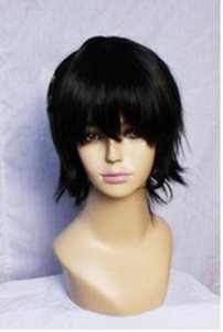 Wholesale WIG New wig Cosplay Short Black Fashion Anti Alice Wigs