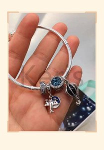 Wholesale Quality Pure Silver Aircraft Hot Air Balloon Clip On Mix Link Bracelet Preferred For Free Delivery