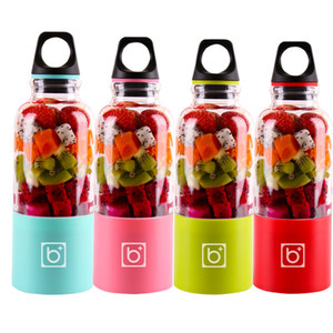 smoothie-mixer großhandel-500ml Klingen tragbare Mixer Juicer Maschine Mixer Elektro Mini USB Küchenmaschine Entsafter Smoothie Blender Cup Hersteller Saft DBC VT0813