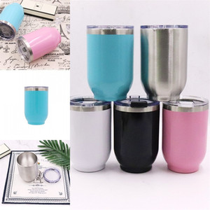 Wholesale 16oz Eggshell Cups Stainless Steel Thermos Bottle Blue White Black Outdoor Hiking Water Bottles Hot Selling sx L1
