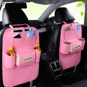 Wholesale Universal Back Seat Organizer Box Felt Covers Backseat Holder Multi-Pockets Container Stowing Tidying Styling