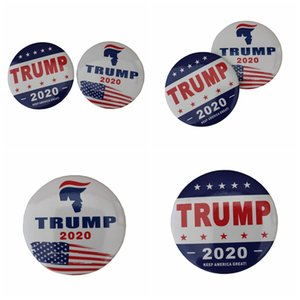 Wholesale New design Donald Trump Brooch pins creative Keep America Great letter printed pins women clothing Brooch Party Favor Gift