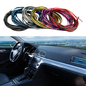 Universal Car Strips DIY Flexible Interior Decoration Moulding Trim Strips Car Central Control and Door Anti-collision Decoration Strips