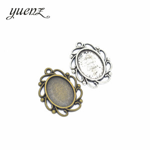 Wholesale YuenZ Colors Necklace Pendant Setting Cabochon Base Tray Bezel Blank Fit mm oval Cabochon Jewelry Making C18