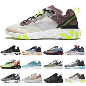 Wholesale New Undercover React element running shoes for men women ROYAL RED triple black Orange Peel mens trainer sports sneakers runner