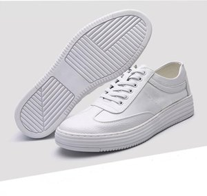 Wholesale lether shoe for sale - Group buy Fashion men casual shoes triple white high quality comfortable lether shoes mens trainers sports sneakers size