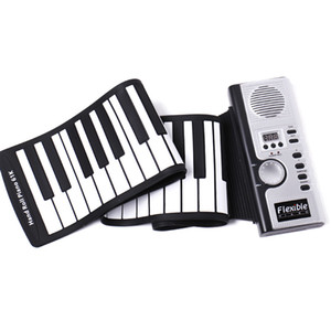 Portable 61 Keys Piano Flexible Silicone Electronic Digital Roll Up Soft Piano Keyboard For Children Birthday Gift Novelty Items C6906