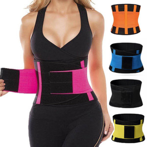 Wholesale Fashion Hot Yoga Slim Fit Waist Hot Belt Trimmer Trainer Patchwork Weight Loss Burn Fat Body Shaper