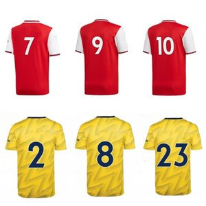 Wholesale 2019 gunners fans soccer tops home away football t shirts red yellow jersey short uniforms custom any number name