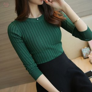 Wholesale Sweater Pullover Women New Autumn Winter Red Black Gray Tops Women Knitted Green Pullovers Long Sleeve Shirt Female Brand