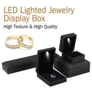 Wholesale LED Lighted Jewelry Storage Case Earring Ring Necklace Bracelet Gift Box LED Lighted Jewelry Box Case Display CNY987