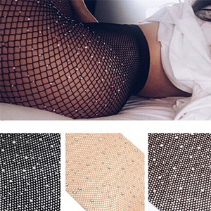 Wholesale Girls Summer Fishnet Diamond Pantyhose Fashion Shiny Net Tights Rhinestone Mesh Nylon Stockings Tights Sox Colors