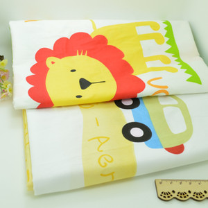 Wholesale 100 cm Lion car Cotton Fabric Patchwork Tissue Cloth Of Handmade DIY Quilting Sewing Baby Sheets Dress handkerchief