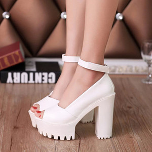 Platform Shoes Woman High Heels Women Shoes Zapatos Mujer Fish Head Women Pumps 2019 New Fashion Ladies Shoes
