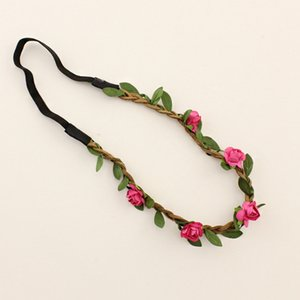 ingrosso corone di fiori-Garland Hair Band Women plum flower Crown Fascia Elastic Fashion Girls Bohemia Beach Party ghirlanda di capelli Accessori LJJJ123
