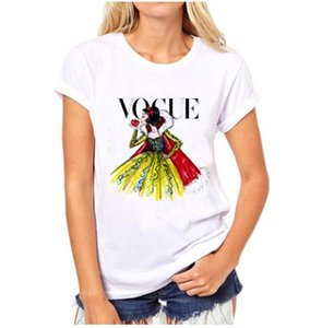 Wholesale women funny hat for sale - Group buy Harajuku Punk Princess VOGUE T Sleeve Tees Funny Summer Shirt Fashion Short Print T shirt Casual Women Lovrly Tops Jeeqn