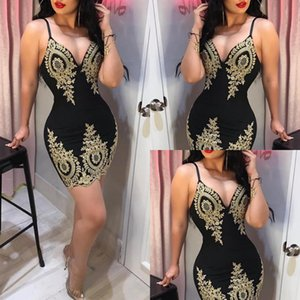 Wholesale sexy black corset evening dresses spaghetti straps above knee short prom gowns with gold applique cheap lace homecoming cocktail party dress