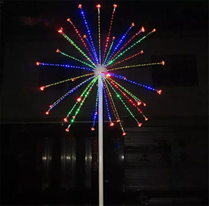 LED Fireworks Light Outdoor Holiday Light 25 Branch 6.5ft 2M height 4 Color-Change RED green Blue Yellow on Sale