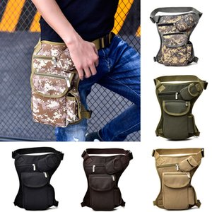 Wholesale Tactical Waist Bag Unisex Canvas Outdoor Camping Cycling Waistpack Sports Leg Bag Traveling Waist Bags Hip Bags Colors CCA11764