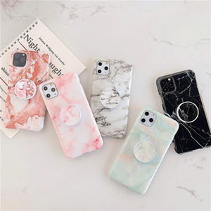 Wholesale Holder Stand Marble Case For iPhone Pro Max Back Cover iPhone S Plus X XS Max XR Lite Skin IMD on Silicone Phone Coque
