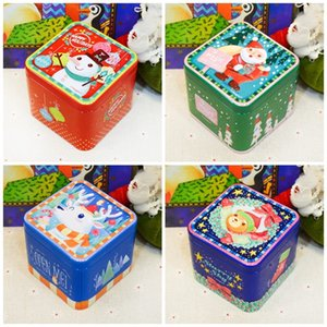 Wholesale Christmas Decoration Candy Jar Square Metal Tin Plate Gifts Box For Child Girls Boys Offset Printing Storage Case Creative im E1