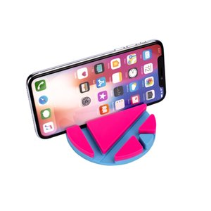 Wholesale mobile phone and tablet holder anti slip universal holder PVC material and various colors are available
