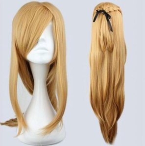 Wholesale LL HOT Free gt gt gt Fashion Master Sword Art Online Asuna Yuuki Classical Golden Cosplay WiG