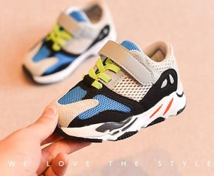 Wholesale 2019 New listing autumn Boys girl kids shoes luxury shoes breathe freely screen cloth kids sneakers Children gift