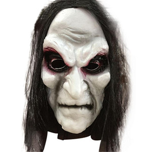 Halloween Zombie Mask Props Grudge Ghost Hedging Zombie Mask Realistic Masquerade Halloween Mask Long Hair Ghost Scary Masks