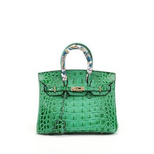 Luxurious2019 Bone Crocodile Pattern Concise Genuine Leather Cowhide Woman Package Tide Portable Ma'am Bag on Sale
