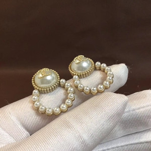 Wholesale Hot sale Luxury quality stud Earrings with pearl Fashion jewelry earrings in S925 silver needle PS6801A