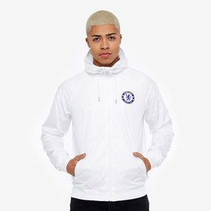 Wholesale Hooded Brand Mens Sports Jacket White Team Jackets Windrunner S XL Thin Windbreaker for Spring Autumn Free Shippipng