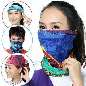 Outdoor Bandana Cycling Face Mask Magic Neck Scarves Sports Headband Hip Hop Bandanas Ski Sport Hiking Scarves 144 Designs 80pcs