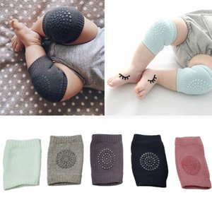 Wholesale 1 Pair Baby Knee Pads Crawling Safety Elbow Infant Cushion Black Baby Leg Warmer For Kids Knee Support Protector Baby Kneecap