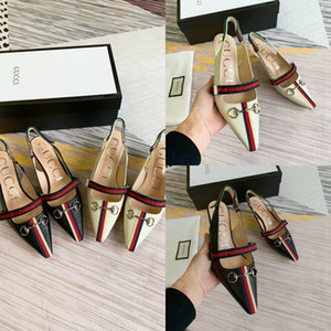 Wholesale Women Luxury Designer Shoes With BOX Sandals Pumps Heels Genuine Leather Sheepskin GC Brand Casual Fashion Shoes Mules Princetown
