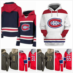 Wholesale Mens Montreal Canadiens Hoody Max Domi 13 Andrew Shaw 65 Antti Niemi 37 Carey Price 31 Jordie Benn 8 Hoodie Stitched 2019 S-3XL