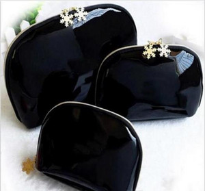 2019 Women snowflake 3pcs set vanity cosmetic case luxury makeup organizer bag toiletry clutch pouch boutique VIP gift