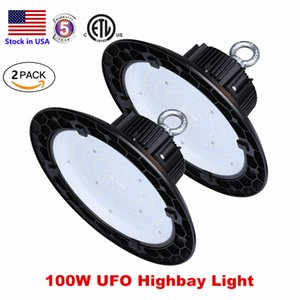 ETL Ultra-thin 5000K UFO LED High Bay Light 200W 150W 100W LED Shop Lights Indoor Outdoor Light Factory Station Warehouse Lighting on Sale