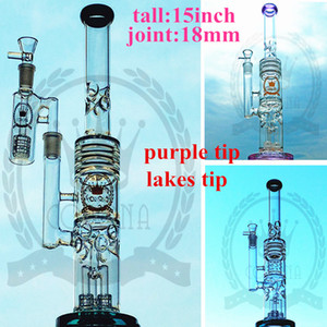 Wholesale bubbler water pipe arms for sale - Group buy factory Color Glass Bong Beaker Hitman water pipe Zob ice catcher arms tree perc dab oil rigs bongs bubbler Pink purple Hookah matrix bong