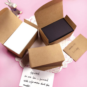 Wholesale White Black Kraft Paper Card Message Memo Wedding Party Gift Thank You Cards Label Bookmarks Blank Kraft Name Card Word card