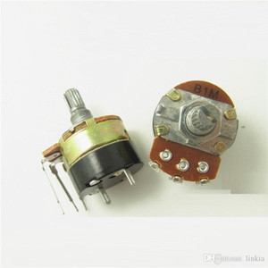 WH138 single three-pin potentiometer B1M B105 with switch dimmer switch handle length 15mm on Sale