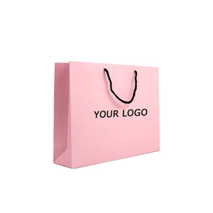 Wholesale laminated papers for sale - Group buy Custom Printed Personalized Pink Matte Laminated Retail Shopping Euro Tote Paper Bag With Logos