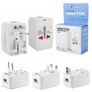 Wholesale power surge protectors for sale - Group buy International Travel Power Adapter Universal Wall Charger for Plug Surge Protector with Retail Package US UK EU AU AC Plug