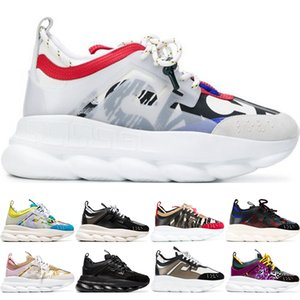 Wholesale 2020 Chain Reaction Casual Designer Sneakers Best Quality Sport Fashion Casual Shoes Trainer Lightweight Link Embossed Sole Sneakers