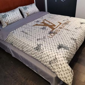 New Fashion Simple Brown Tone Pattern Bedding Sets Cover Leopard Print Duvet Quilt Cover Pillow Case Bed Sheets 30-14