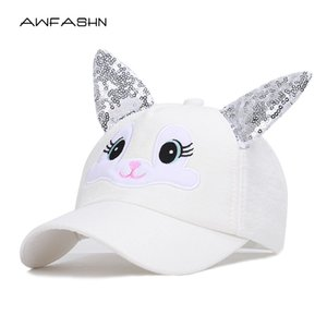 Wholesale Cute ears Baseball Hat for Boy Girls Caps Kids Summer Hats Boys Peaked toddler Baby Snapback child girl caps Trucker Cap